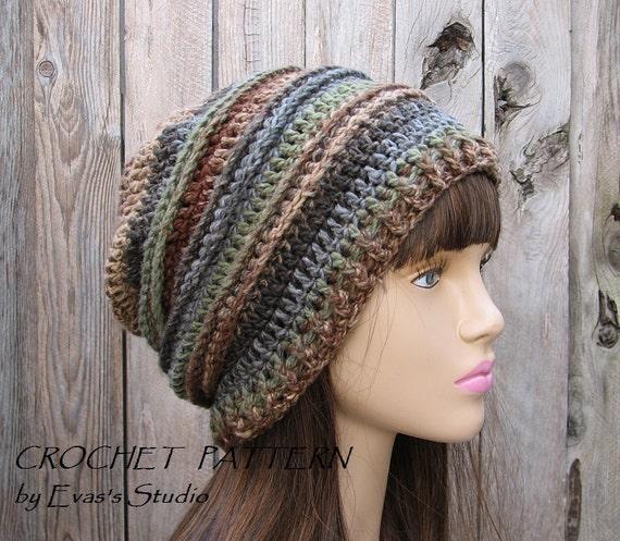 CROCHET PATTERN Slouchy Hat Crochet Pattern PDFEasy  1661ed545a4