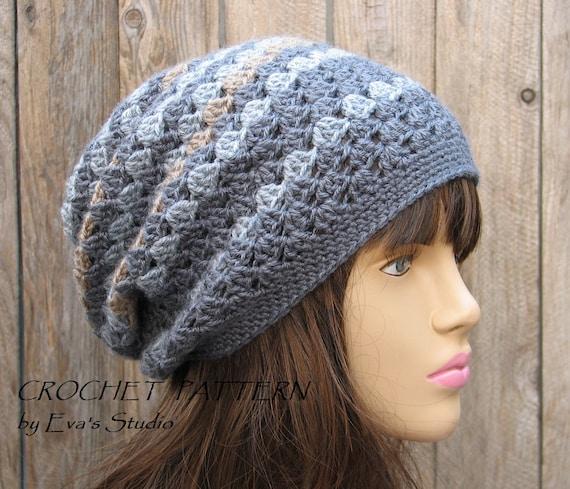 Crochet Hat Pattern Slouchy Hat Crochet Pattern Pdf Etsy