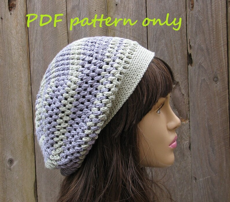 ab9a74309b8 Slouchy Spring Hat Crochet Pattern PDF Pattern No. 44