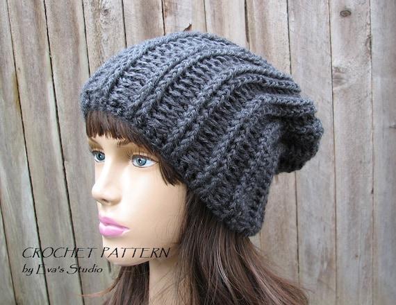 Crochet Pattern Slouchy Hat Crochet Pattern Pdfeasy Great Etsy