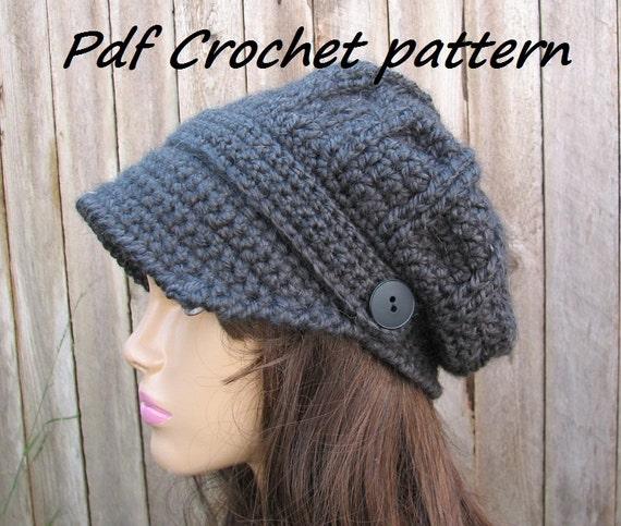 Crochet Pattern Crochet Newsboy Hat Crochet Pattern Pdf Etsy