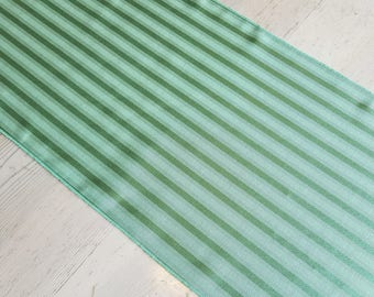Mint Green Table Runner - Satin Stripe, Made in America, Dinner Party Table Top Decor