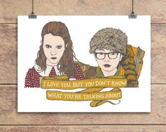 Sam and Suzy - Moonrise Kingdom Greeting Card