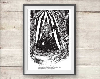 The Night Circus - Celia Bowen Night Circus Print