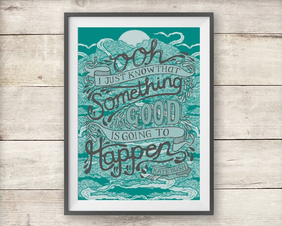 Kate Bush - Cloudbusting Lyric Print - Kate Bush Poster