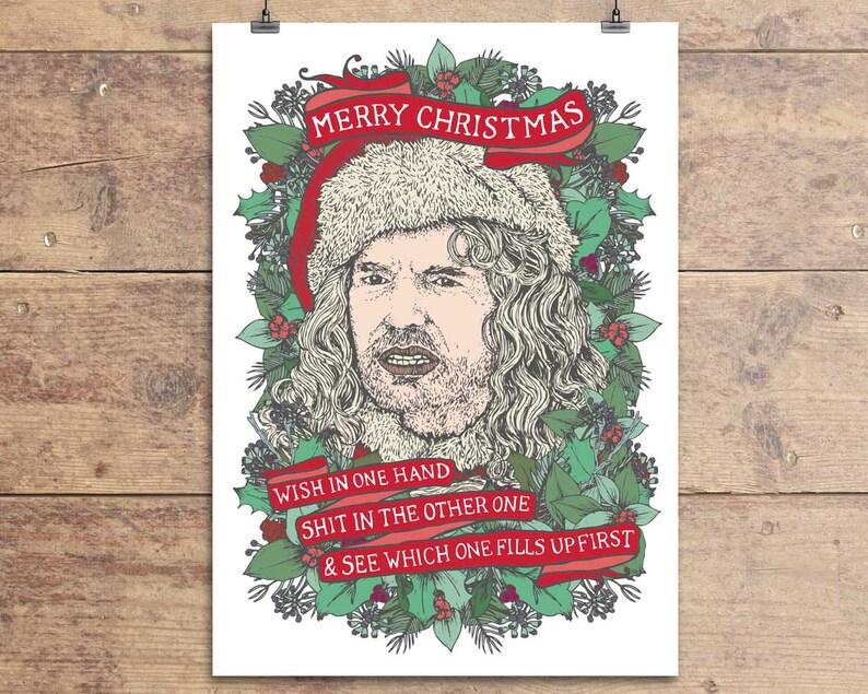 Bad Santa Billy Bob Thornton Funny Christmas Greeting Card Etsy