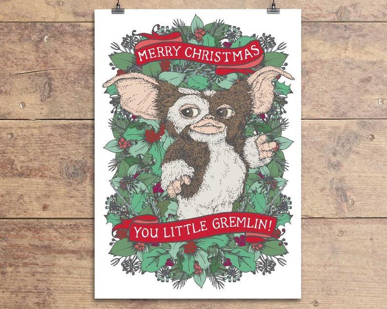 Gremlins Christmas Card Gizmo Christmas Card Gremlins  0fa7d66f7bd25