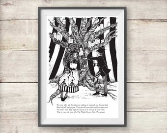 The Night Circus - Poppet and Widget Print