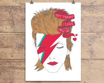 David Bowie Rebel Rebel Grußkarte
