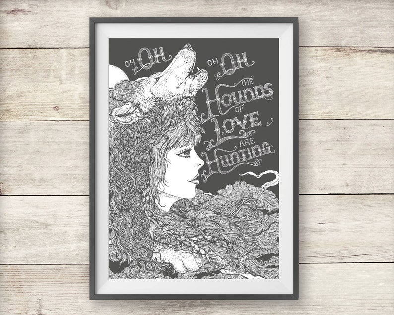 Kate Bush - Hounds Of Love - Print