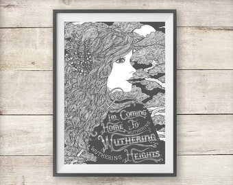 Kate Bush - Wuthering Heights - Print