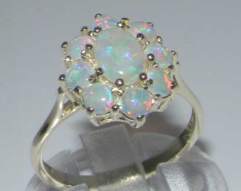 Customizable Solid 925 Sterling Silver Natural Opal English Victorian Antique Style Scroll Deco Ring