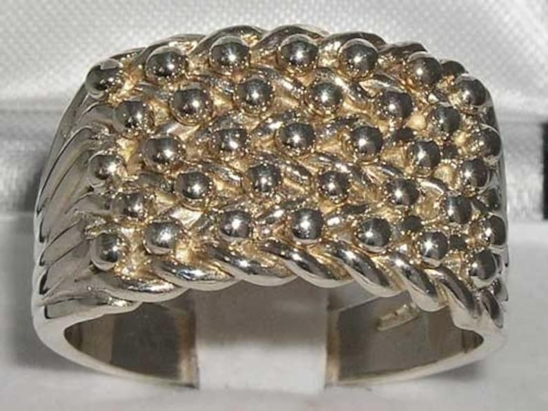 925 Sterling Silver Keeper Ring LARGE SIZES