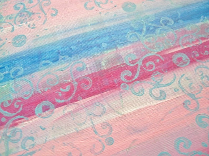 Wall decor for girl pink wall decor teen bedroom decor original mixed media art art on canvas shabby chic decor