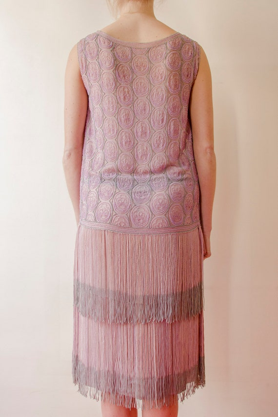 Rare! Vintage 1920s French flapper beaded dress l… - image 7