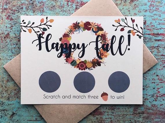 Fall Pregnancy Announcement Scratch Off Cards Autumn fall