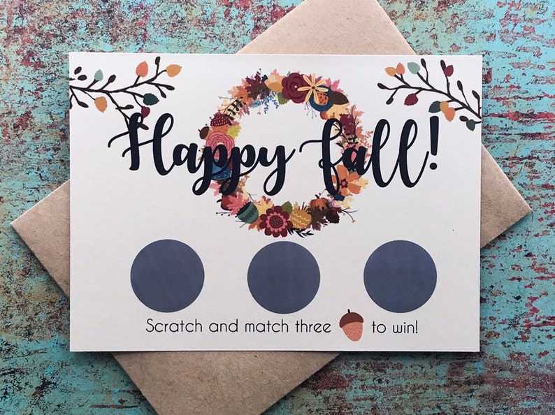 Fall Pregnancy Announcement Scratch Off Cards Autumn fall image 0