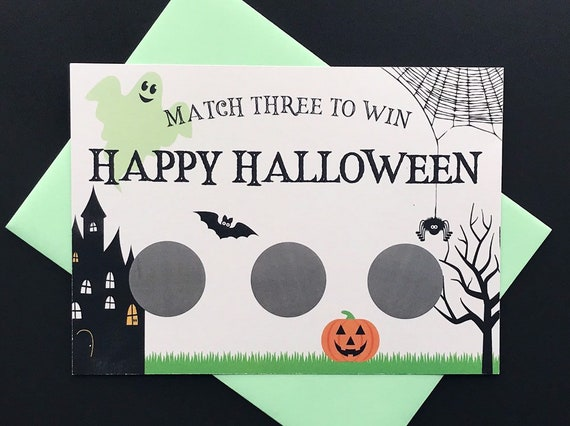 Halloween Pregnancy Announcement Scratch-Off Cards Halloween