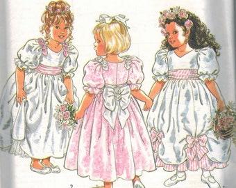 Flower Girl Party Dress New Look Pattern 6545 size 2 - 7