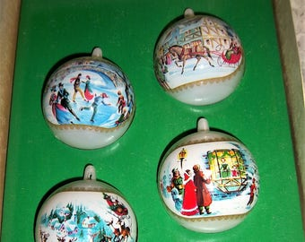 "Vintage 2 1/2"" Bradford Unbreakable Christmas Ornaments - 4"