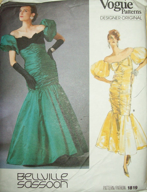 Vintage1980s Vogue Pattern Designed By Bellville Sassoon Etsy