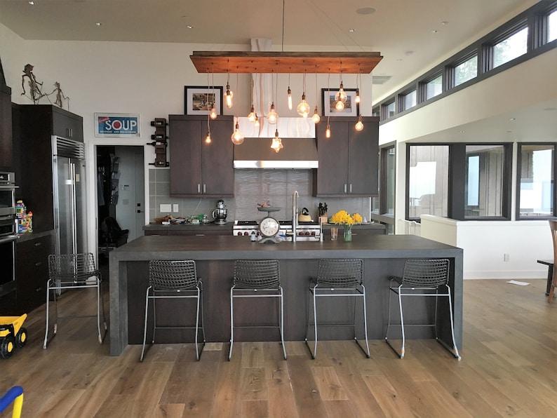 Rustic Kitchen Island Chandelier Kitchen Lighting Reclaimed Etsy