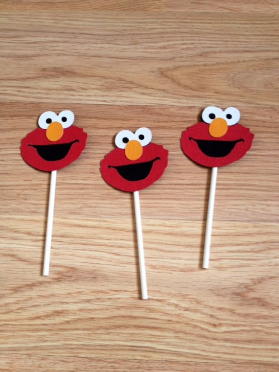 12 Elmo Cupcake Toppers Birthday Decorations Cake