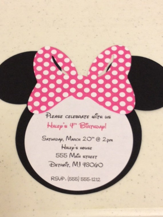 Deluxe Minnie Mouse Name Banner Pink Minnie Birthday Paper