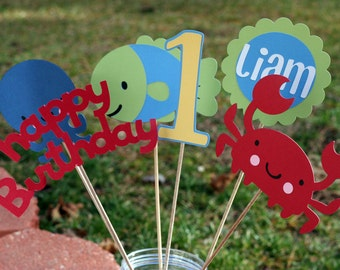 Under the Sea Table Centerpiece Set, Under the Sea Birthday, Under the Sea Table decorations