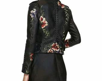 BODEGA Faux Leather Motorcycle Jacket in Black