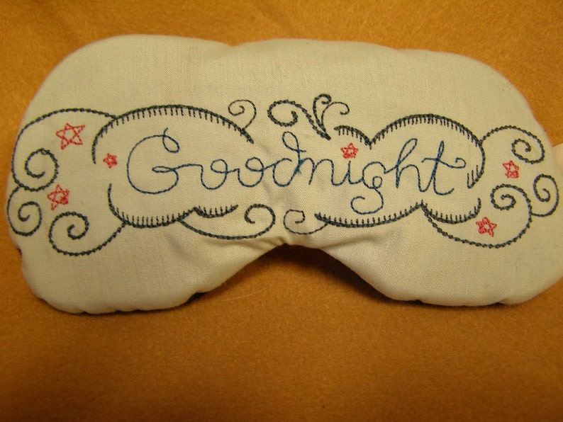 43714531b01 Embroidered Eye Mask for Sleeping Cute Sleep Mask for Kids or