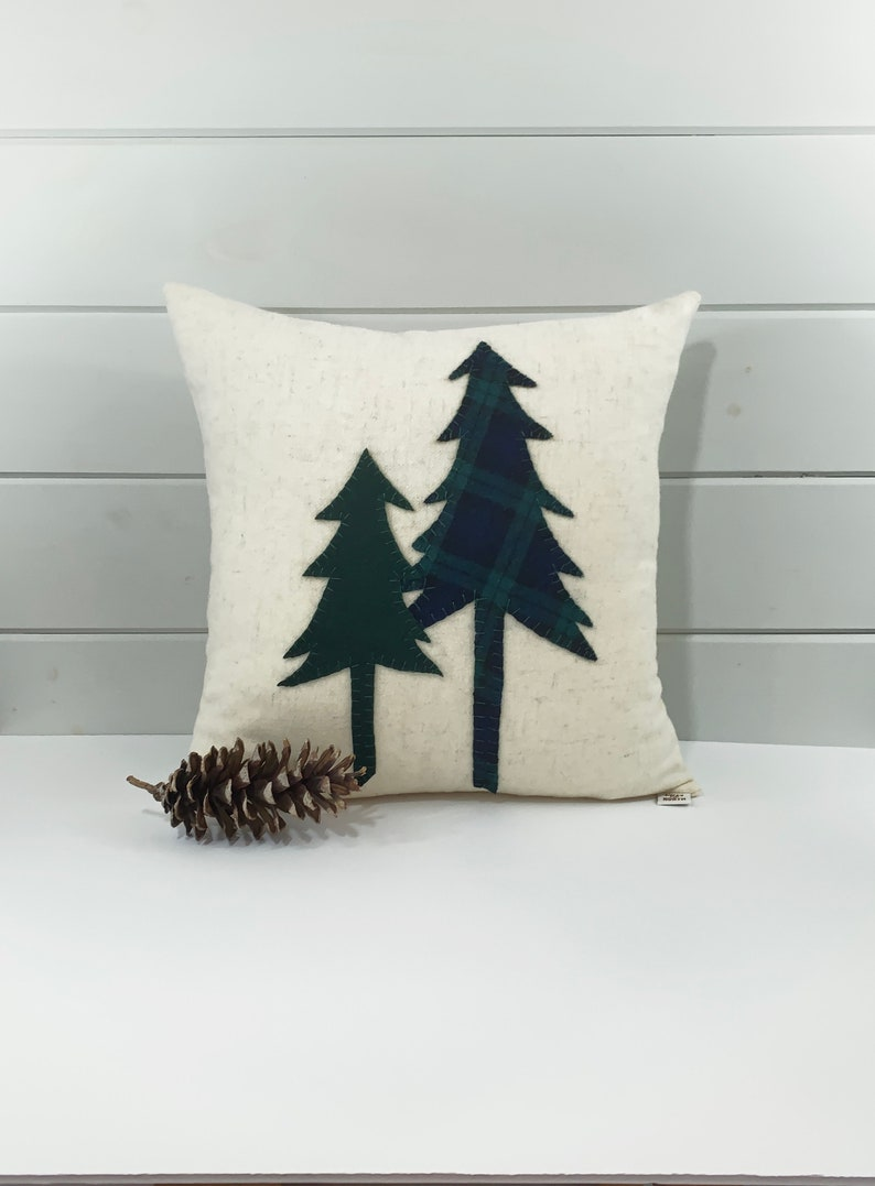 Tree Pillow Pine Tree Rustic Pillow Woodland Pillow Rustic image 0