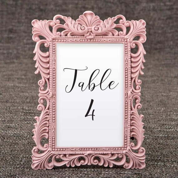 Pink Table Number Frames Set of 10 Size 4 x 6 Picture | Etsy