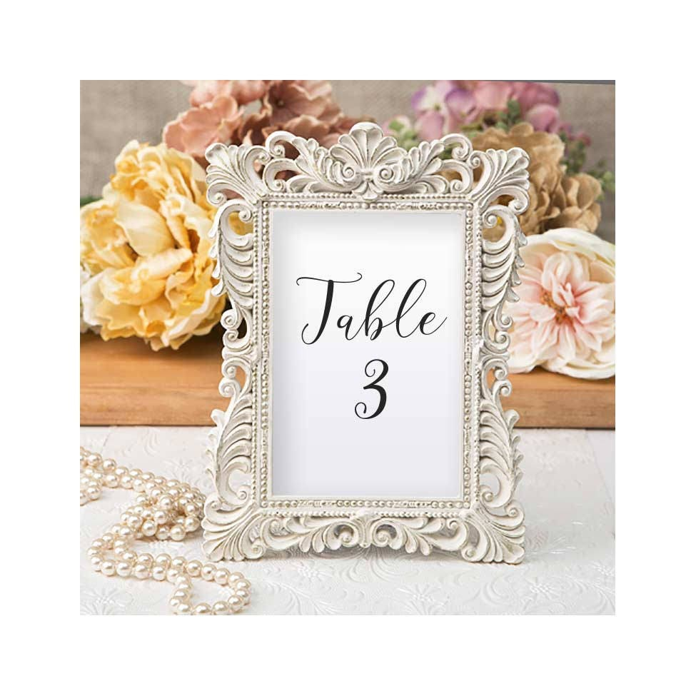 Ivory Table Number Frames Set of 3 Size 4 x 6 Gold Leaf | Etsy