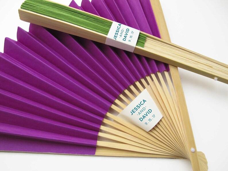 Personalized Fans 75 Set Paper Fan Wedding Favors Party Favors Hand Fans Bridal Shower Gifts More Colors