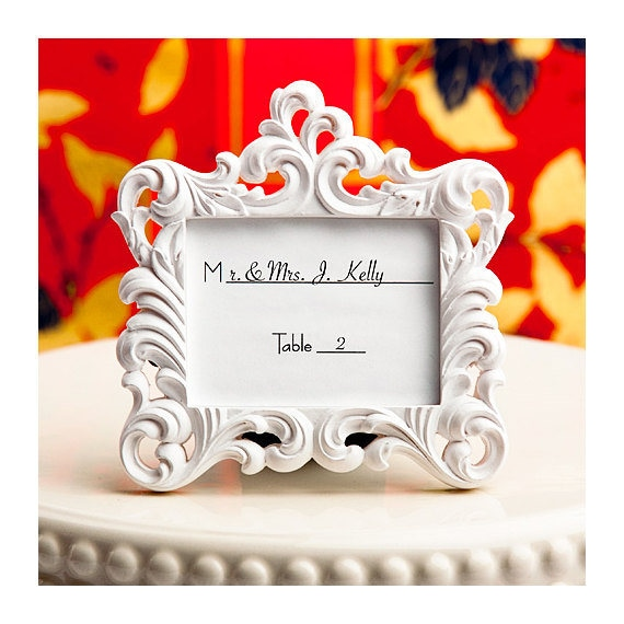 Place Card Holder Frames 75 Set Small White Picture Frame   Etsy