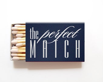 Matchbox Wedding Favors The Perfect Match Matchboxes - Custom Foil Stamped Personalized Matches Rehearsal Dinner Bridal Shower