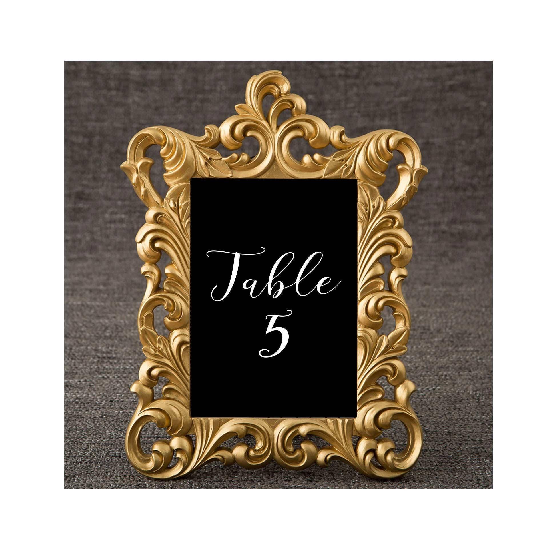 5 x 7 Gold Frames Set of 30 Baroque Table Number Frame   Etsy