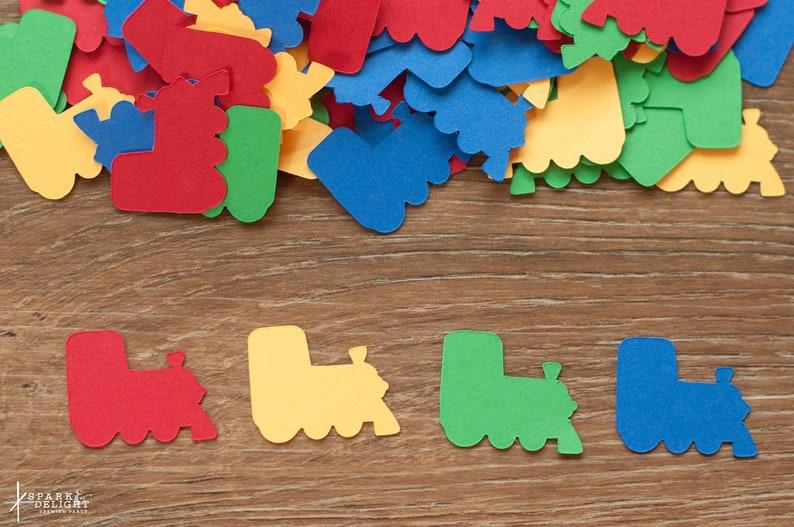 Train Confetti Boy Birthday Confetti Transportation Birthday image 0
