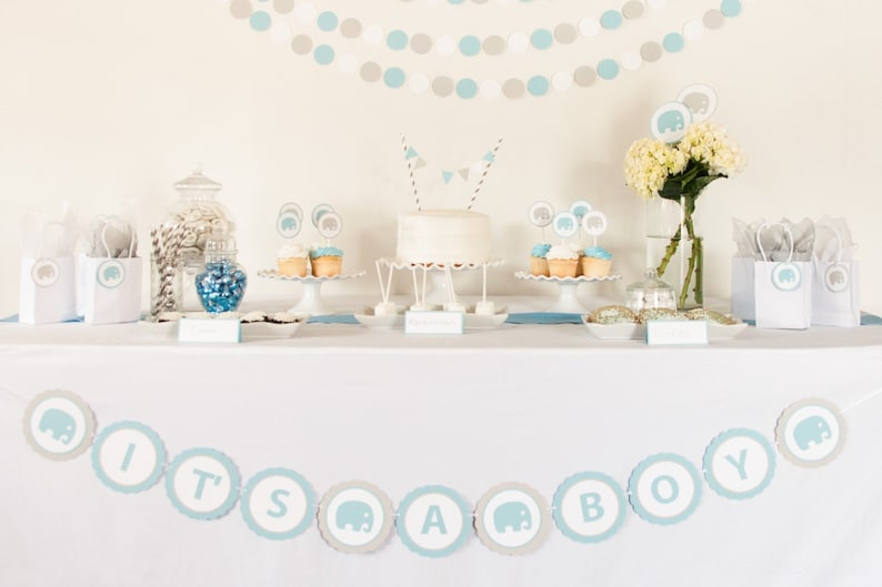 Elephant Baby Shower Banner image 0