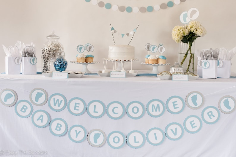 Baby Shower Banner Baby Shower Decoration   Welcome Baby image 0