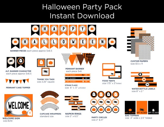 picture relating to Halloween Printable Decorations referred to as Halloween Printable Decor - Halloween Decorations