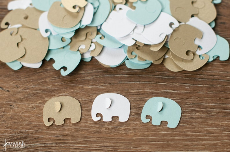 Elephant Baby Shower Decoration  Elephant  Confetti   Light image 0
