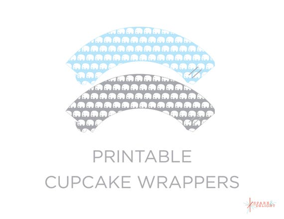photo relating to Printable Cupcake Wrappers named Printable Cupcake Wrappers - Elephant Youngster Shower - Elephant Cupcake Wrappers - Elephant Child Shower Concept - Cupcake Wrappers