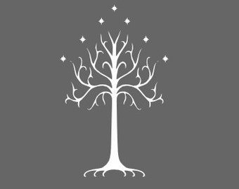 Vinyl Decal - Tree of Gondor decal inspired by The Lord of the Rings for Macbook, laptop etc...