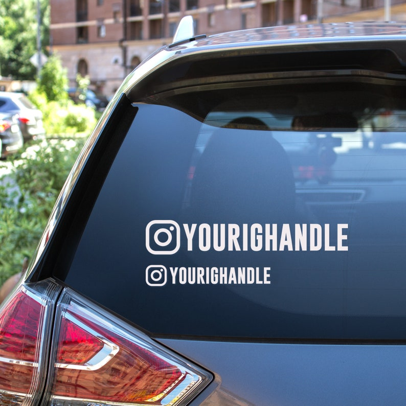 Custom IG Handle Decal. Social Media Handle Decals For Your image 0