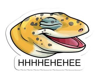 Laughing Lizard Leopard Gecko Meme Sticker