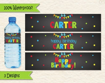 Monster Birthday Water Bottle Labels for your Little Monster Bash • Monster Party Decoration • Waterproof Monster Water Bottle Labels 39A