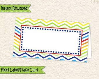 Instant Download Music Theme Food Label • Music Food Tent • Music Party Decorations • Sticker label • Allergy Card  • Place Card • 014C2