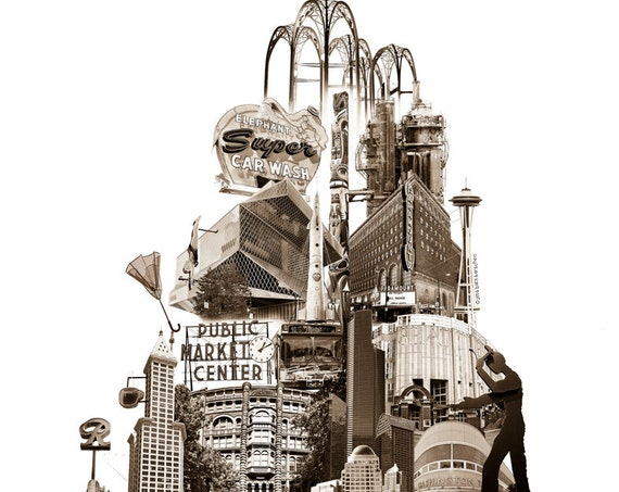 Tower of Seattle - Art Print of Seattle, Washington - 8.5x11 and 11x14